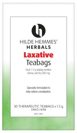 Laxative teabags